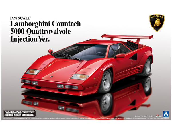 1 24 lamborghini countach 5000qv 1988 by aoshima hobbylink japan. Black Bedroom Furniture Sets. Home Design Ideas