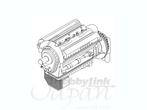 1/72 Rolls Royce Merlin XX-Brit.airc.engine by CMK