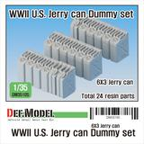 1/35 WWII 米陸軍用ジェリ缶セット(各社1/35ジープ用トレーラー他対応)