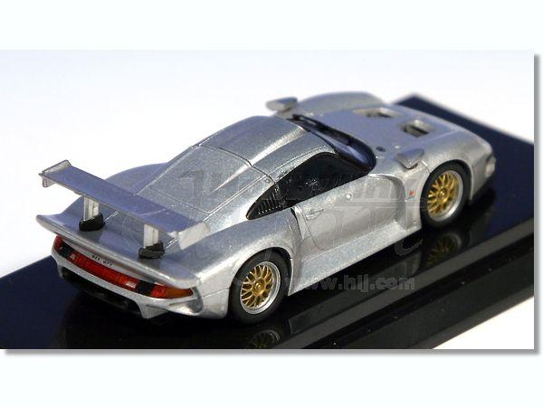 1 64 porsche 911 gt1 1996 silver by kyosho hobbylink japan. Black Bedroom Furniture Sets. Home Design Ideas