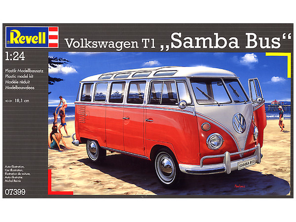 1 24 volkswagen t1 samba bus by revell hobbylink japan. Black Bedroom Furniture Sets. Home Design Ideas