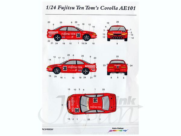 1  24 Fujitsu Ten Tom U0026 39 S Corolla Ae101 By Auto Color