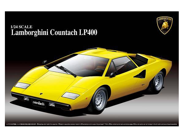1 24 Lamborghini Countach Lp400 By Aoshima Hobbylink Japan