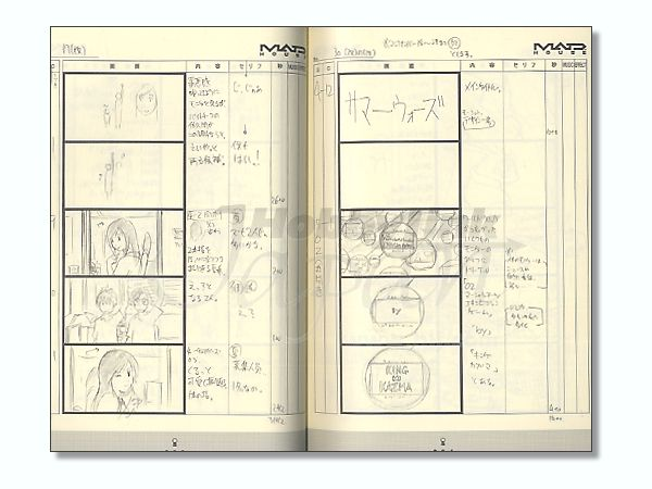 Anime Style Archive Summer Wars Storyboards By Asuka Shinsha