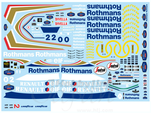 F1 DECALS MUSEUM COLLECTION D260 1//43 FOR WILLIAMS FW14B /& FW15C