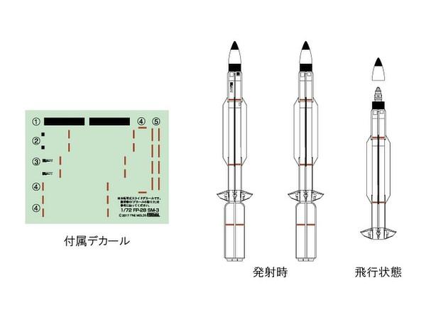 1/72 弾道弾迎撃ミサイル SM-3 by ファインモールド | ホビーリンク ...