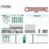 1/64 GreenLight Mechanic's Corner Series 7 Vintage Gas Station Mobico Christine (1983)