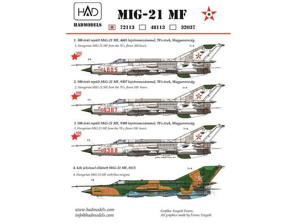 1/72 Mig-21MF (Hungarian Air Force 9307, 9308, 4605, 8113