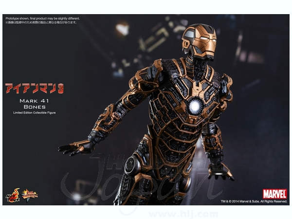 Movie Masterpiece Iron Man 3: Mark 41 Bones by Hot Toys ...