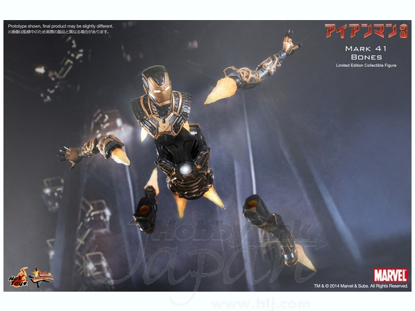 Movie Masterpiece Iron Man 3: Mark 41 Bones by Hot Toys ...