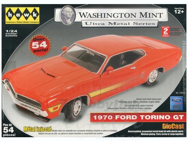 Ford Torino Gt Orange Pre Paintedcast Kit