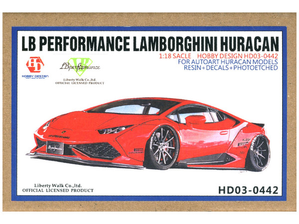 1/18 LB Performance Lamborghini Huracan For Autoart Huracan Wide Body Kit