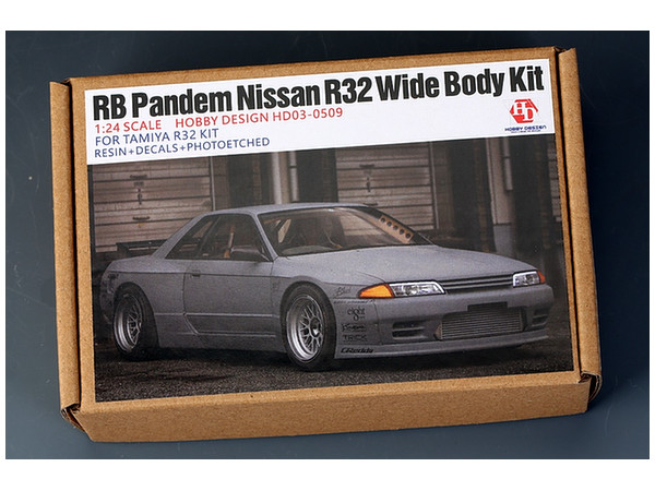 1/24 RB Pandem Nissan R32 Wide Body Kit for Tamiya R32