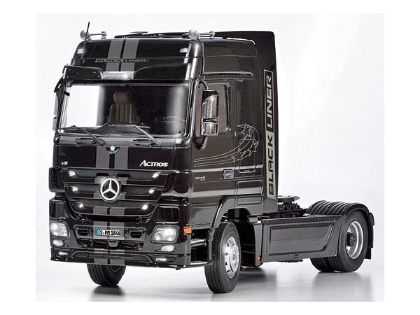 1 24 mercedes benz actros mp3 white liner black liner by. Black Bedroom Furniture Sets. Home Design Ideas