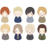 FUKUBUKU COLLECTION Hetalia World Stars Trading Mascot: 1Box (8pcs)