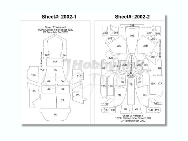 1/24 Mercedes Benz CLK-GTR Template Set (for Tamiya 242 by