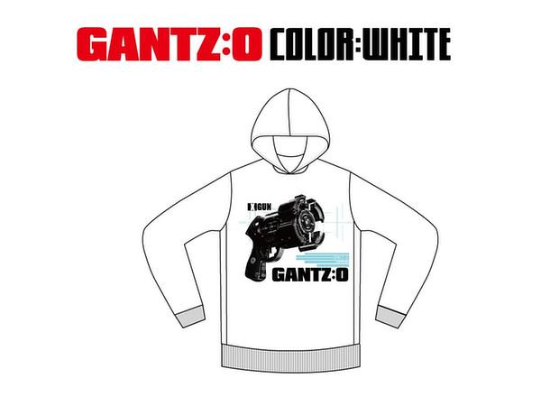 LIVERTINEAGE x GANTZ:O Collaboration Parka GUN White L ...